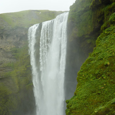 Skogarfoss - seen on the Iceland, Greenland, and Faeroe Islands adventure.