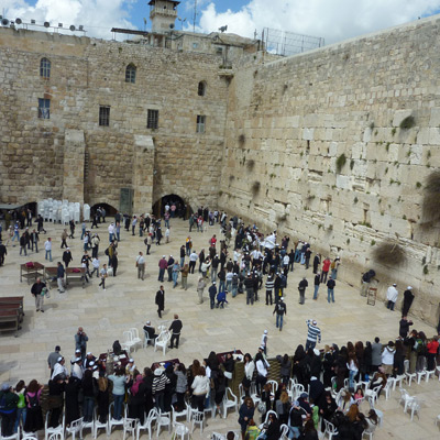 The Wailing Wall - seen on our Israel & Jordan adventure.