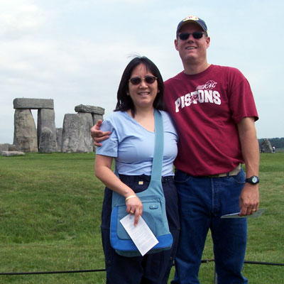 Alex and Doreen at Stonehenge - seen on Grand Tour of Europe Plus and British Isles tour.