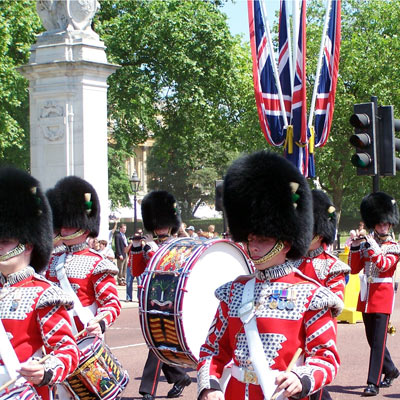Changing of the Guard, London - seen on Grand Tour of Europe Plus and British Isles tour.